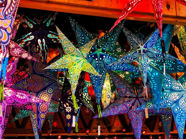 Sterne am Weihnachtsmarkt Würzburg