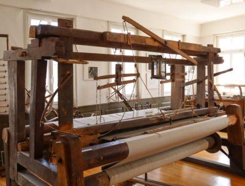 Alter Handwebstuhl im Webereimuseum
