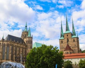 Ein Spaziergang durch Erfurt in Thüringen